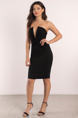 Strapless Black Dresses Bodycon - Shop Strapless Black Dresses ...