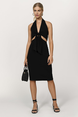 237d177777a5e Cute Black & White Dress - Racerback Dress - Midi Stripe Dress - $10 ...