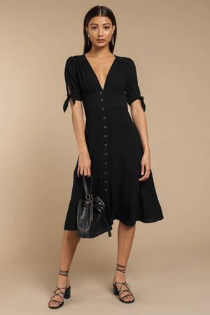 dccb08827676 Black Midi Dress - Tank Top Midi Dress - Comfy Black Midi Dress ...