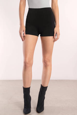 Kelli Black High Waisted Shorts - $40.00 | Tobi