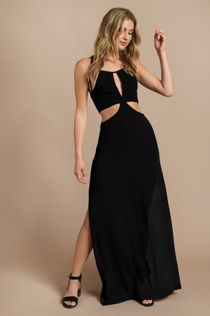 Sexy Black Maxi Dress - Black Dress - Cut Out Dress - $34.00
