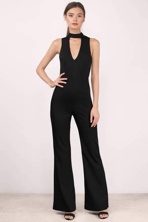 Chic Black Jumpsuit - Choker Jumpsuit - Chic Jumpsuit - Black ...
