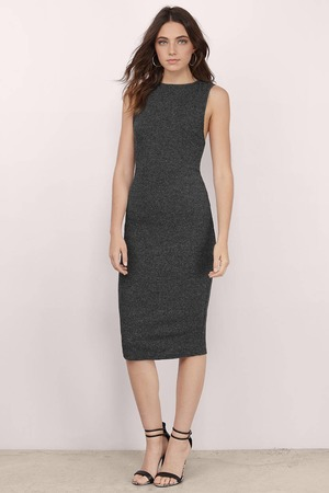 b7998ce4c92 Cute Black   White Dress - Racerback Dress - Midi Stripe Dress -  10 ...