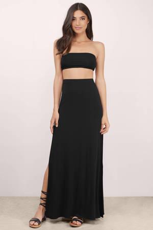 High Waisted Maxi Skirt | Shop High Waisted Maxi Skirt at Tobi