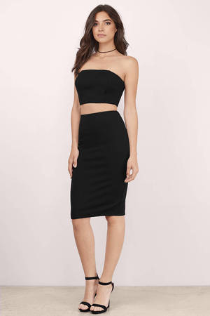 Sexy Black Dress Sleeveless Dress Black Tube Dress