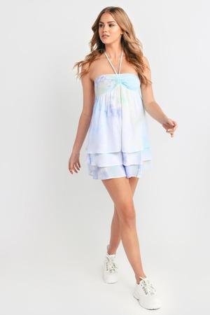 e750b6df0df Trendy Blue Casual Dress - Smock Dress - Blue Tie Dye Dress -  118 ...