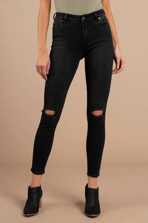 ROLLA'S Rolla's Westcoast Dusty Black Ankle Cropped Jean