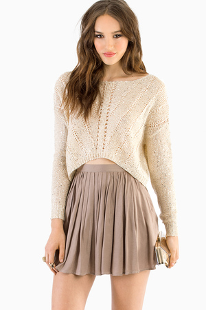 Maine Cropped Sweater | Tobi