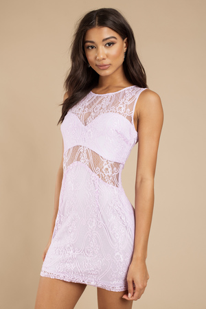 Ladies pink lace dress