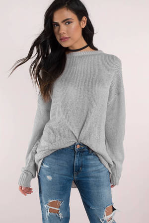 Penelope Light Grey Sweater - $52 | Tobi US