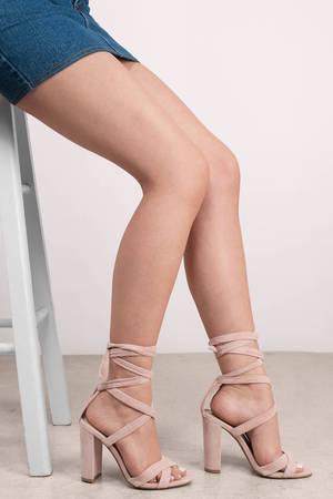1f4e13cc9b9 Cute Light Pink Heels - Pink Heels - Suede Heels - Light Pink Heels - £110