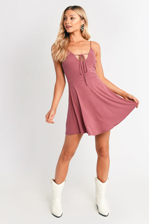 a97fe68efb Pink Casual Dress - Sweater Dress - Pink Turtleneck Dress -  35 ...