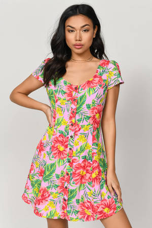 0f70ef302532c Cute Blush Day Dress - Button Down Dress - Day Dress - $13 | Tobi US