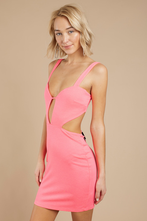1c9f9c76c222 Peach Bodycon Dress - Pink Dress - Strapless Dress - Multicolor ...