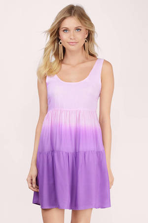 Cute Purple Day Dress Purple Dress Tiered Dress 7
