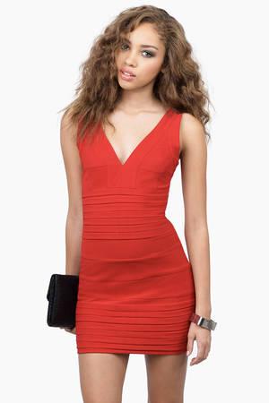 Gloria Low Cut Bodycon Dress 20 Tobi Us