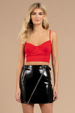 Meant To Be Red Bustier Crop Top - $23 | Tobi US