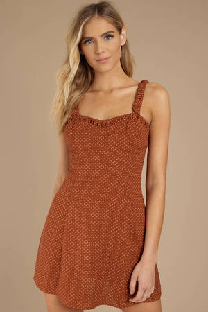 b73b40be00 Orange Shift Dress - Deep V Dress - Sleeveless Dress - Day Dress ...