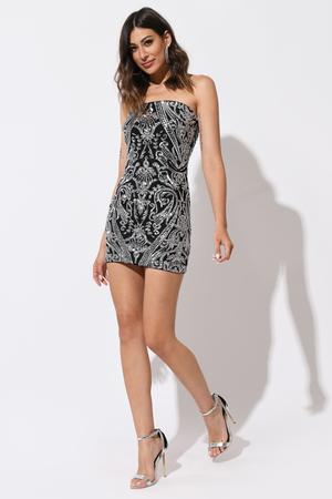 8313d5ab24 Fun Grey Bodycon Dress - Scoop Neck Dress - Grey Sparkly Dress -  49 ...