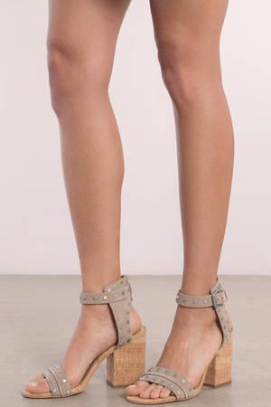 Dolce Vita Essie Suede Ankle Strap Heels