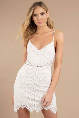 785daf248c White Bodycon Dress - Cami Mini Dress - White Vegas Dress - Party ...