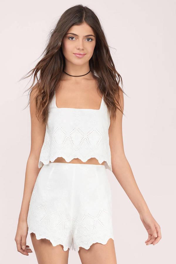 White High Waisted Shorts | Shop White High Waisted Shorts at Tobi