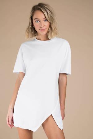 8be2a19dc0b4e Shift Dresses | White Shift Dresses, Long Sleeve Printed Dress | Tobi