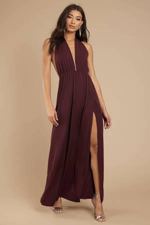 eeaec74d65fc1 Sexy Wine Maxi Dress - Lace Maxi Dress - Wine Formal Dress - $43 ...