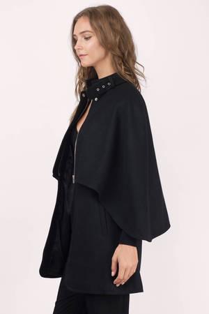 Cheap Black Coat - Black Coat - Cape Coat - Black Coat - AU$ 59 ...