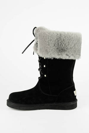 Cute Black UGG Boots - Lace Up UGGs