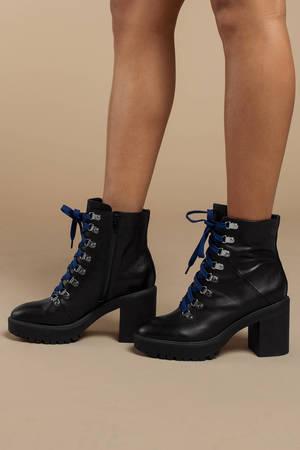 287ee4e69ed ... Steve Madden Steve Madden Royce Black Leather Combat Boots ...