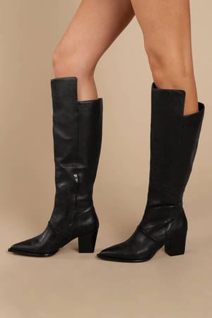 Tania Leather Knee High Boots