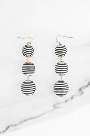 Don T Drop The Ball Black White Earrings S 7 Tobi Sg