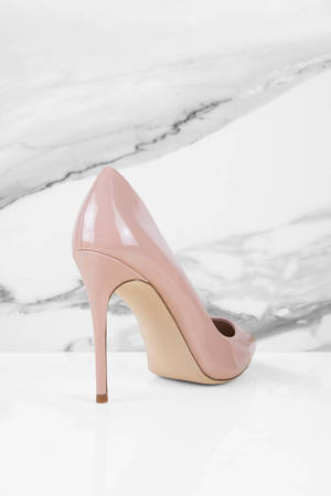 1b83dca5f4e7 Blush Pink Steve Madden Heels - Designer Pumps - Blush Pink Leather ...