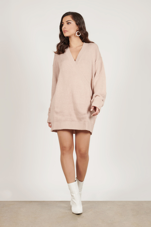 97f7d3d2320 Winter Romance Blush Oversized Sweater Dress Winter Romance Blush Oversized  Sweater Dress ...