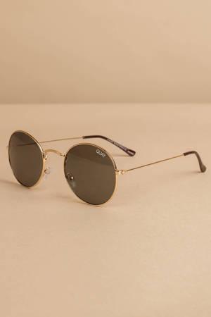 193922d025a8 Quay Mod Star Green Round Sunglasses - NZ$ 85 | Tobi NZ
