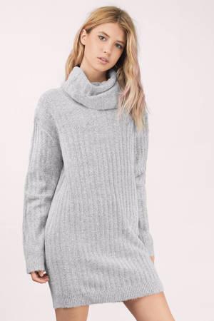 6ad9fa1dfc7e Cute Grey Day Dress - Grey Dress - Cowl Neck Dress - Day Dress - $40 ...