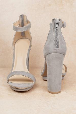 7ec13c5a1e9 Grey Heels - Formal Heels - Grey Party Heels - Birthday Heels - € 71 ...