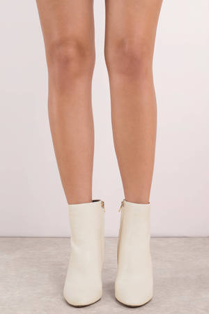 White Boots - Designer Ankle Boots