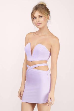 1177bdd34b4c0 Lavender Bodycon Dress - Lavender Dress Set - Two Piece Dress - kr ...