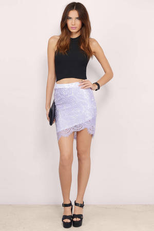 trendy lavender skirt purple skirt lace skirt 1200