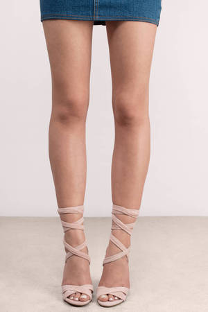 ea2c57a07ff Christey Suede Lace Up Heel