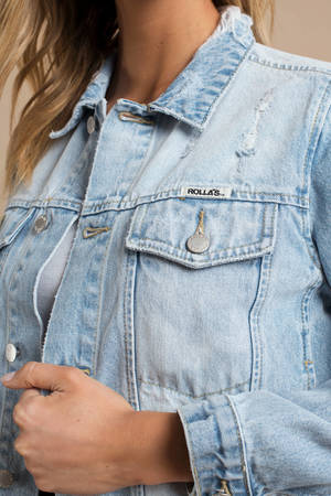 43bffefcf9d ... Jacket ROLLA S Rolla s Slouch Light Wash Cropped Distressed Denim ...