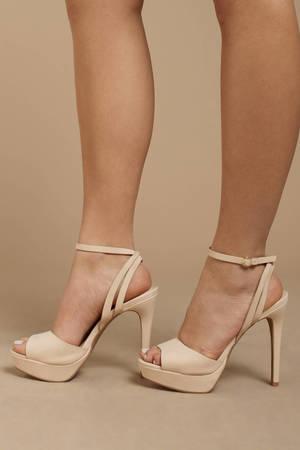 dd5de18d9ca9af Avalon Nude Ankle Strap Heels Avalon Nude Ankle Strap Heels ...