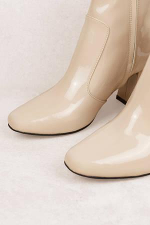 Bianco Støvler Round Heel Ankle Boot Purple Velvet