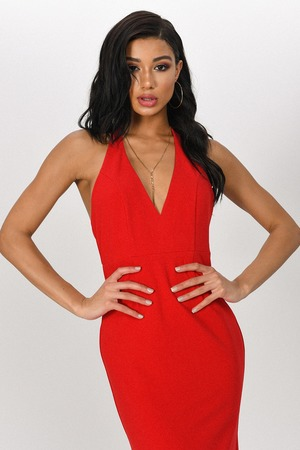 03d63302db Red Formal Maxi Dres - Sexy Halter Maxi Dress - Red Gown - NZ  69 ...