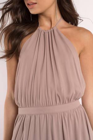 e18e8003397 Cute Taupe Dress - Backless Dress - Beige Sleeveless Maxi Dress - AU ...