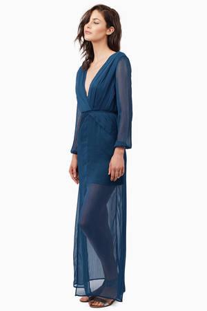 Sexy Teal Dress - Pleated Dress - Pewter Long Dress - Maxi Dress ...