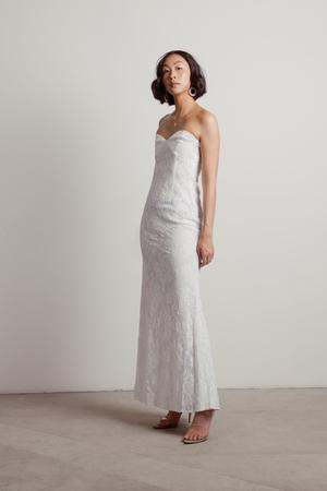 5d3930779f8 Adelyn White Strapless Maxi Dress Adelyn White Strapless Maxi Dress ...