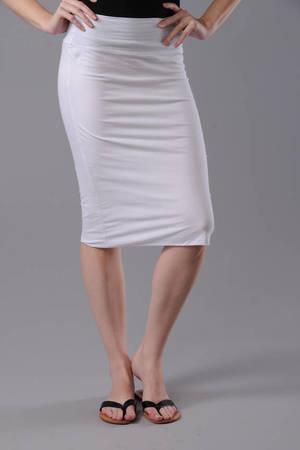 95f84449e9b878 White Skirt - Office Skirt - White Pencil Skirt - Tight Fitted Skirt ...